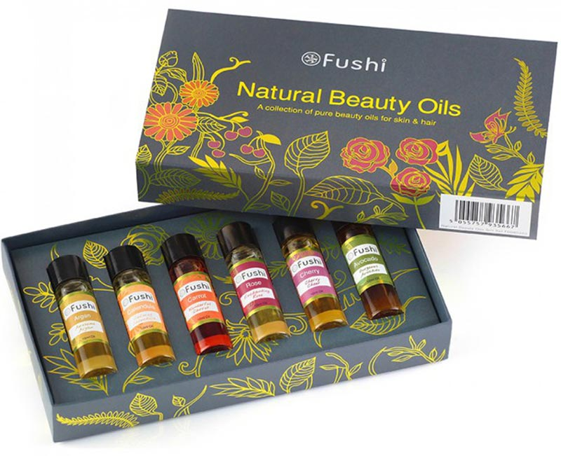 fushi natural beauty oils gift set