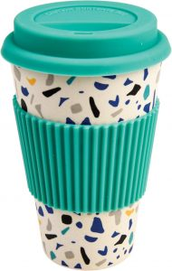 How to reduce your plastic use - terrazo bamboo travel mug