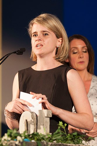 Ecover's Head of European Communications, Sarah Tuke presents the Young Green Champions Award