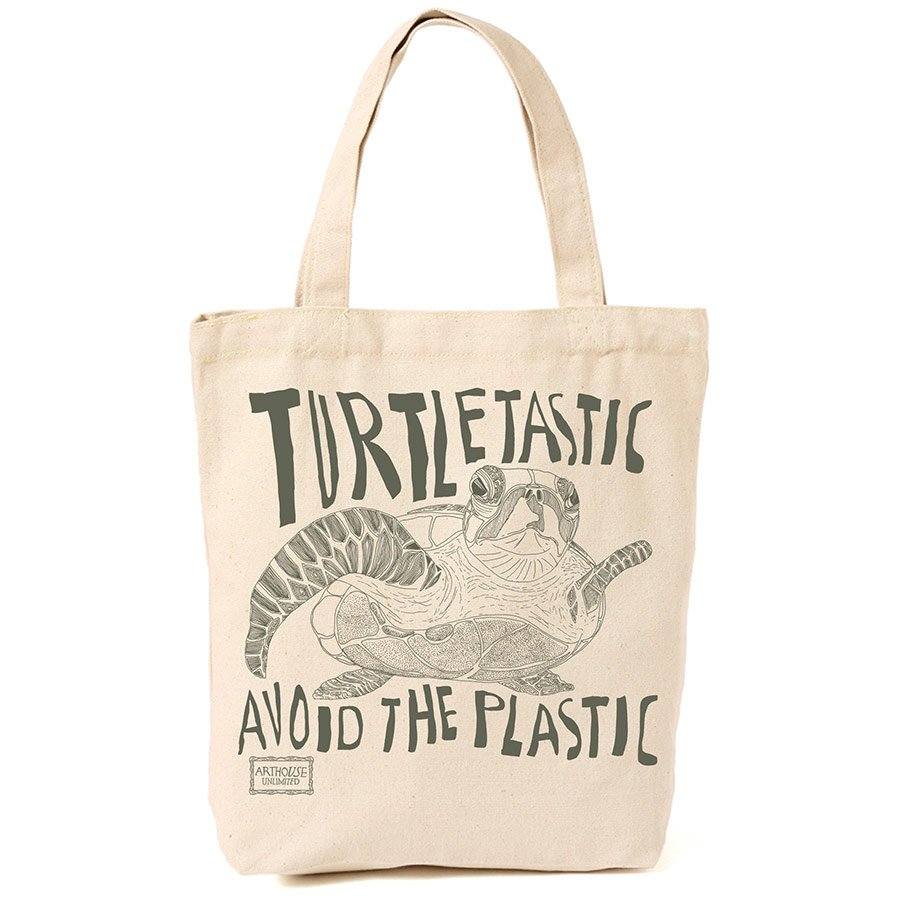 plastic-free swaps - turtle shopping bag