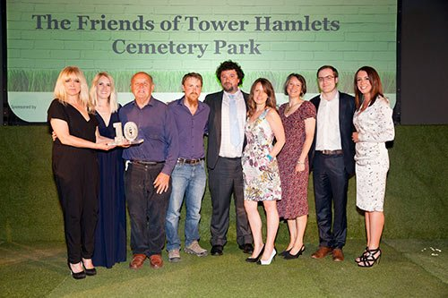 Judge Jo Wood, TheFriends of Tower Hamlets Cemetery Park and The Observer's Lucy Siegle