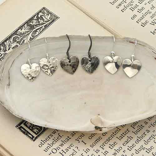 Kate Hamilton-Hunter recycled silver earrings
