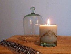 MJ London candle & clocheMJ London candle & cloche
