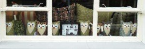 Melin Tregwynt Mill owl doorstops and cushions