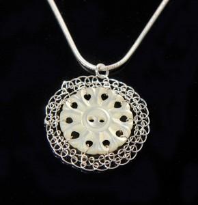 VMOP27. pierced button pendant