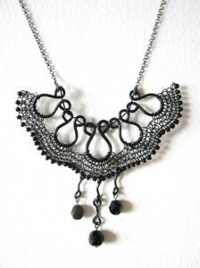 VN1. Alessandra necklace: Vintage Noir collection, Alessandra necklace, £60